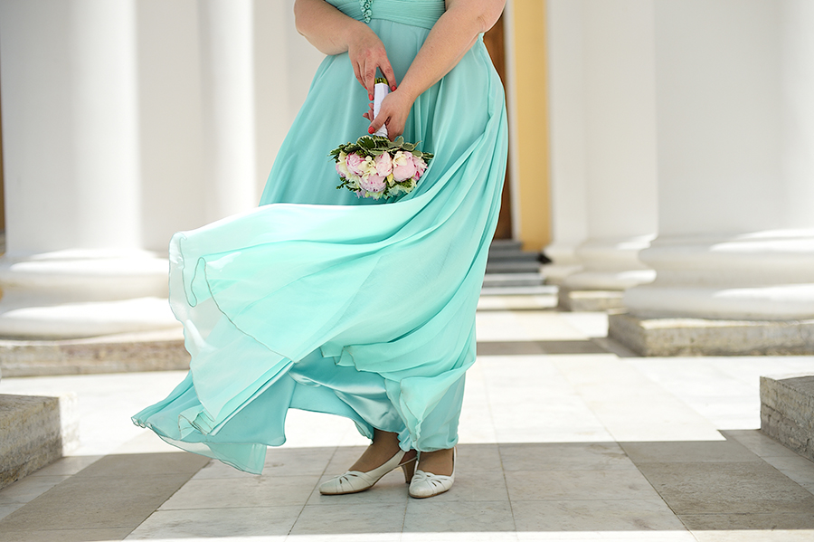 Свадьба в Пушкине летом. Необычное свадебное платье.