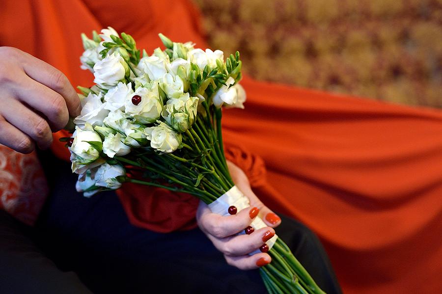 Букет невесты . Зимняя свадьба.,