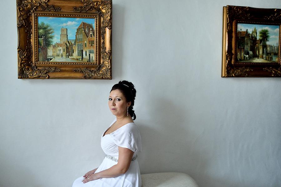 Портретная съемка невесты в интерьерах отеля St.Olav в Таллине.
