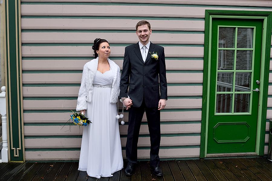Свадьба зимой в Таллинне.