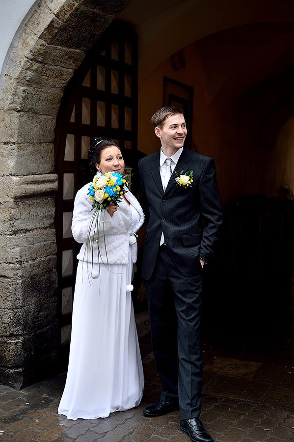 Свадебная фотосессия в Старом городе в Таллинне.