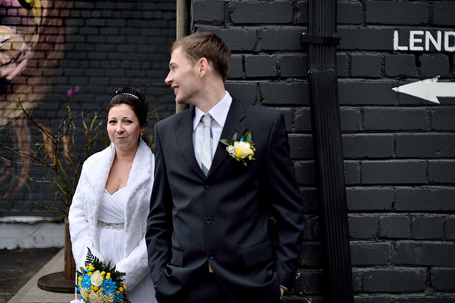 Свадебная съемка в необычных местах в Таллинне.