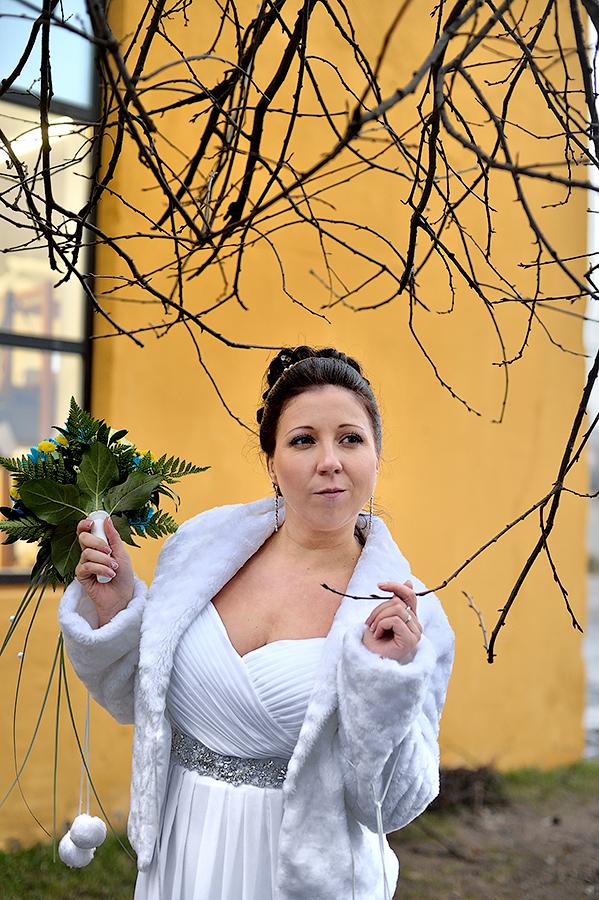 Портрет невесты на свадьбе в таллине.